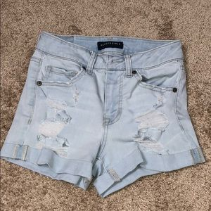 Aeropostale's High Waisted Midi Shorts